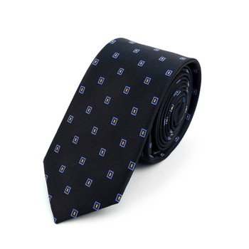 "Dots Microfiber Poly Woven 2.25"" Slim Tie - MPWS5916"