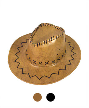 "6pc 3.5"" Brim Cowboy Hat H9308"