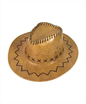 "6pc Pack 3.5"" Brim Cowboy Hat H9308"