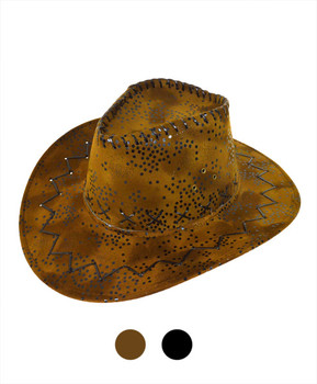 "6pc 3.5"" Brim Cowboy Hat H9315"