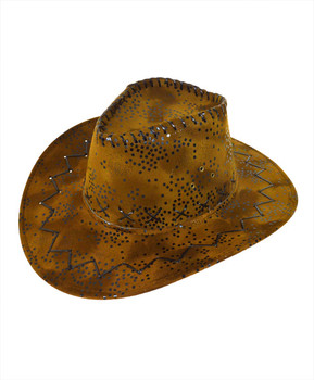 "6pc Pack 3.5"" Brim Cowboy Hat H9315"