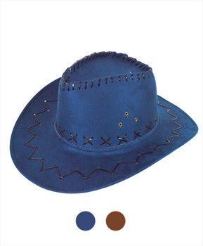 "6pc 3.5"" Brim Cowboy Hat H9310"