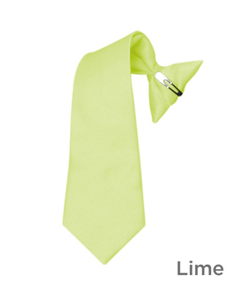 Boy's Poly Solid Clip On Tie BSC3301