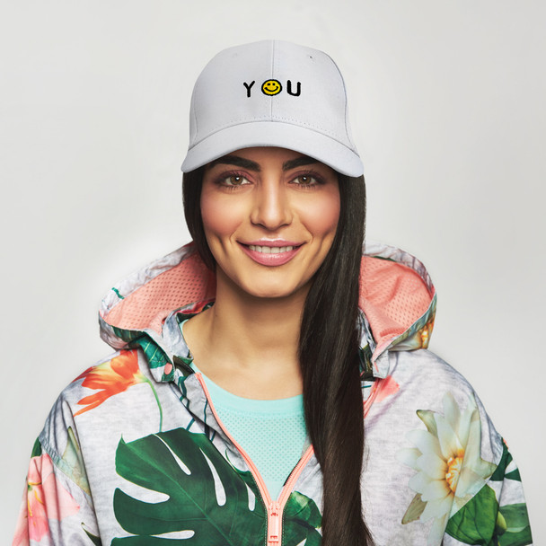 """Smiley """"Thank You"""" Embroidered Baseball Cap H170429-03"""