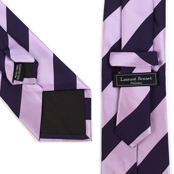 Striped Tie & Matching Pocket Round Set MPWTH170337