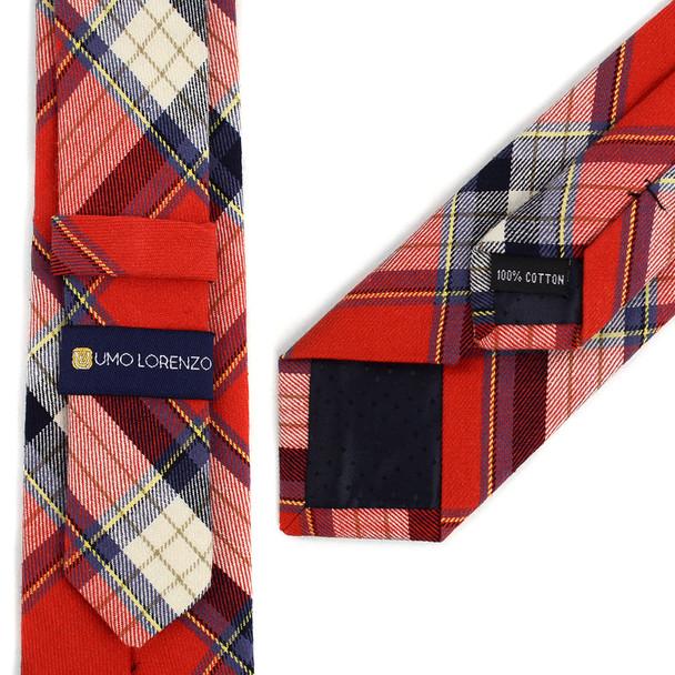 """Men's Plaid Flannel 2.25"""" Cotton Slim Tie - MPPW1636"""