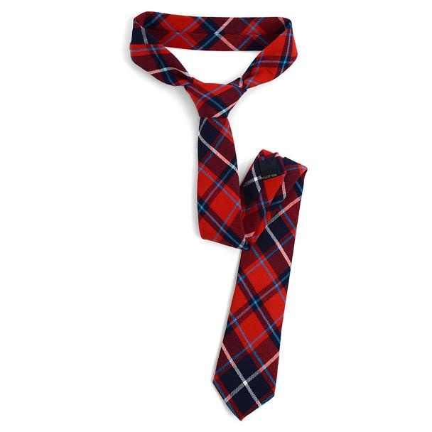 """Men's Plaid Flannel 2.25"""" Cotton Slim Tie - MPPW1637"""