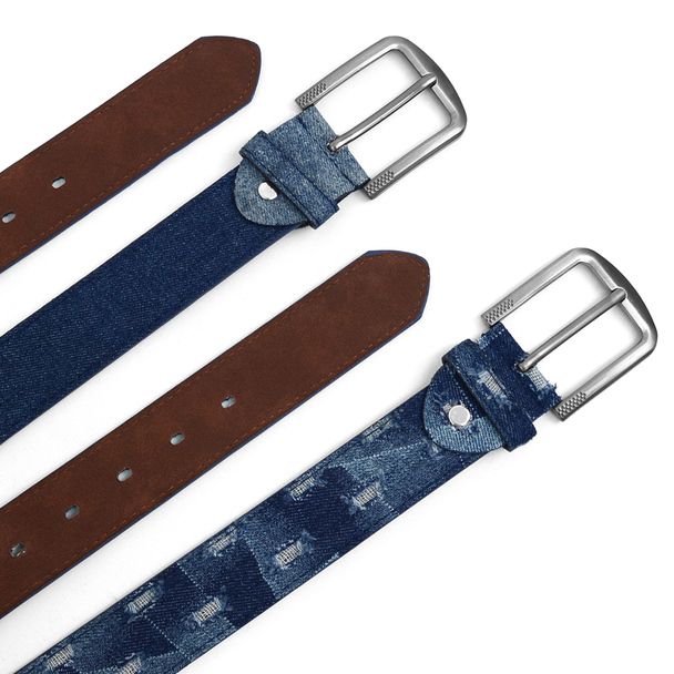 12pc Twin-Pack Assorted Men's Jean Washed Denim Belts MJB1701