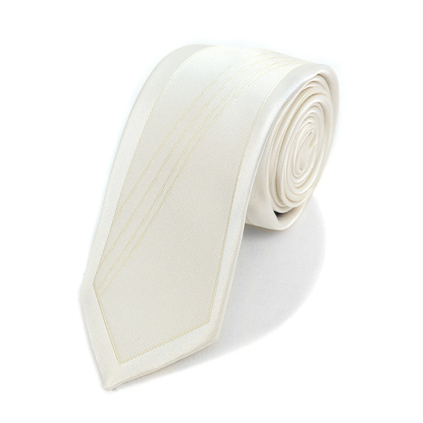 "White Microfiber Poly Woven 2.25"" Slim Panel Tie MPPW1612-WHT"