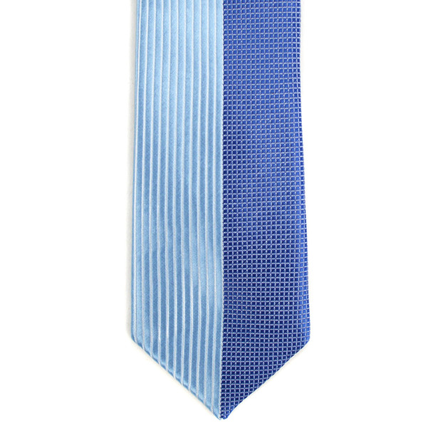 "Blue Microfiber Poly Woven 2.25"" Slim Panel Tie MPPW1624"