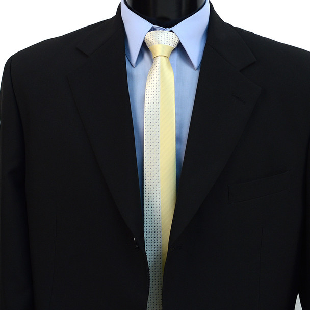"""Dotted Microfiber Poly Woven 2.25"""" Slim Panel Tie MPPW1621"""