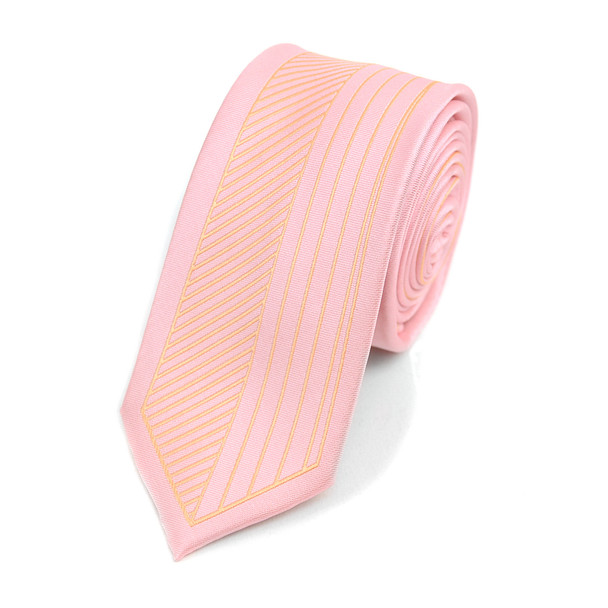 "Striped Microfiber Poly Woven 2.25"" Slim Panel Tie MPPW1626"