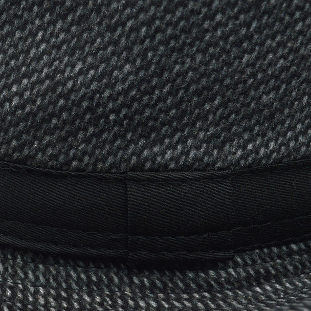 Fall/Winter Trilby Fedora Hat with Band Trim H171386-BLK