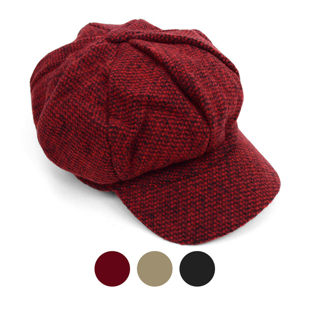 Fall/Winter Unisex British Newsboy Beret Style Cap - WNH1761-65-66