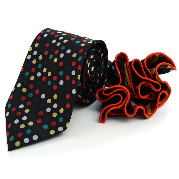 Polka Dot Tie & Matching Pocket Round Set MPWTH170632