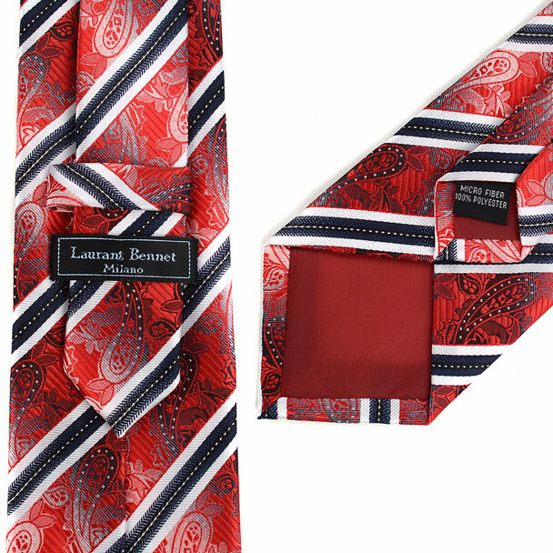 Striped Paisley Tie & Matching Pocket Round Set MPWTH170638