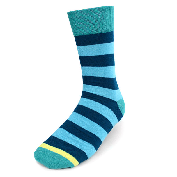 Assorted Pack (3 Pairs) Men's Turquoise Casual Fancy Socks 3PKS/TURQ2