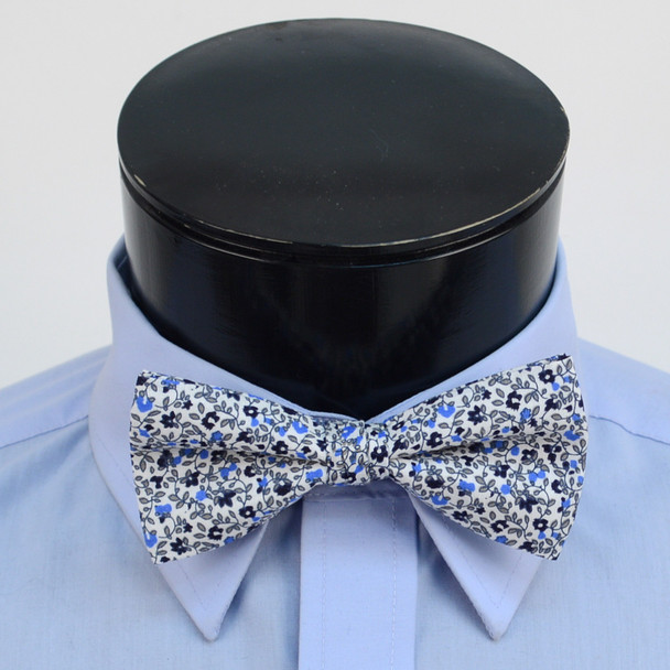 3pc Floral Wedding Cotton Banded Bow Tie - NFCB17130