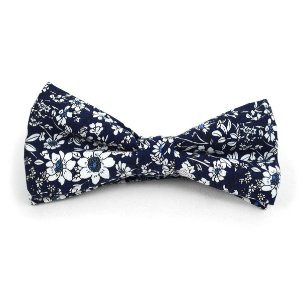 Floral Wedding Cotton Banded Bow Tie - NFCB17137