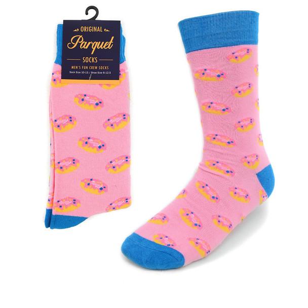 Men's Strawberry Doughnut Novelty Socks NVS1788-PK