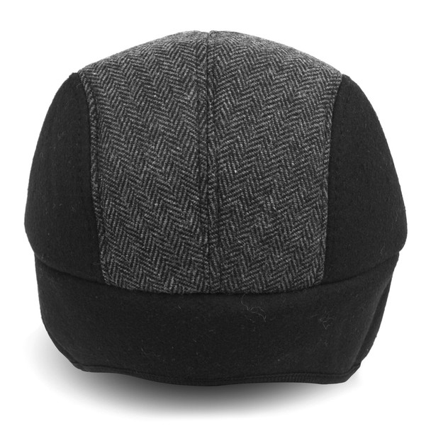 Fall/Winter Herringbone Ivy Hat with Ear Flaps - H177307-08