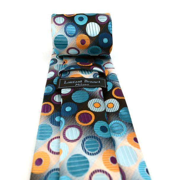 Geometric Circle Microfiber Poly Woven Tie - MPW5926
