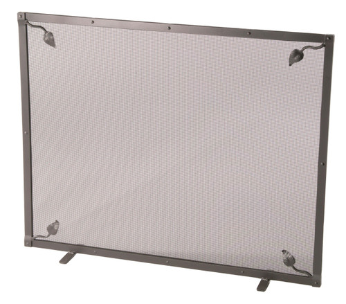 Iron Fire screen - Evening Shade Collection - Single Panel with Feet