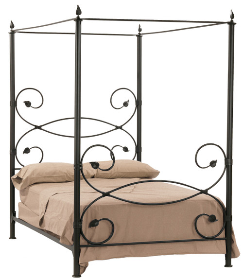 Evening Shade Canopy Iron Twin Bed