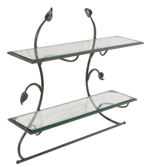 Iron Wall Shelf with Bar-Evening Shade Collection