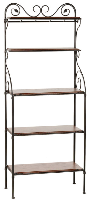 Evening Shade Iron Bakers Rack 5 Tier