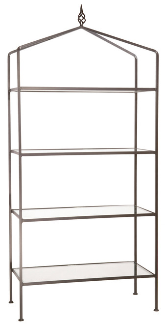 Iron Standing Shelf - Woven-4 Tier