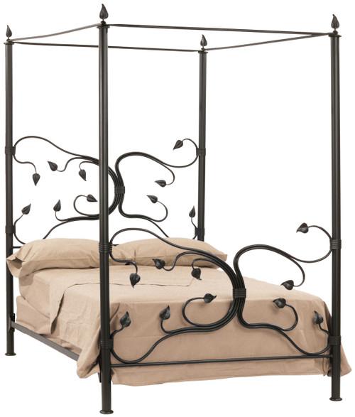 Fair Oak Iron Canopy Full Bed