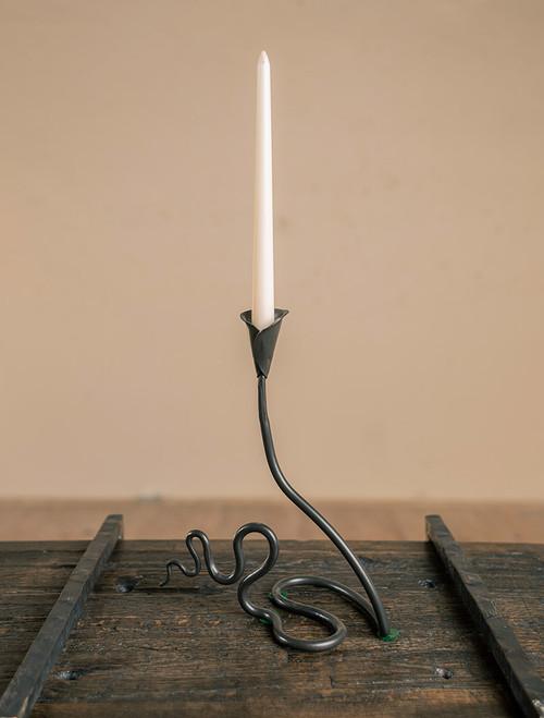 Ivy Wrought Iron Single Candle Holder