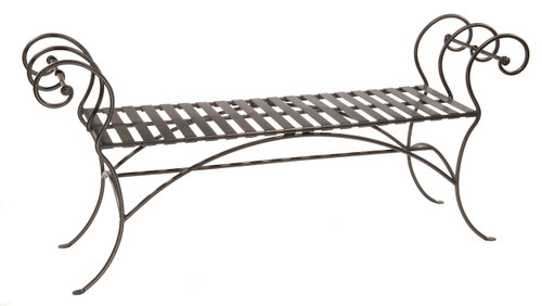 Magnolia Iron Bench (No Back) 63 inch