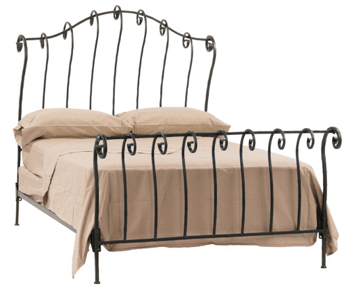 Whispering Springs Iron Sleigh King Bed