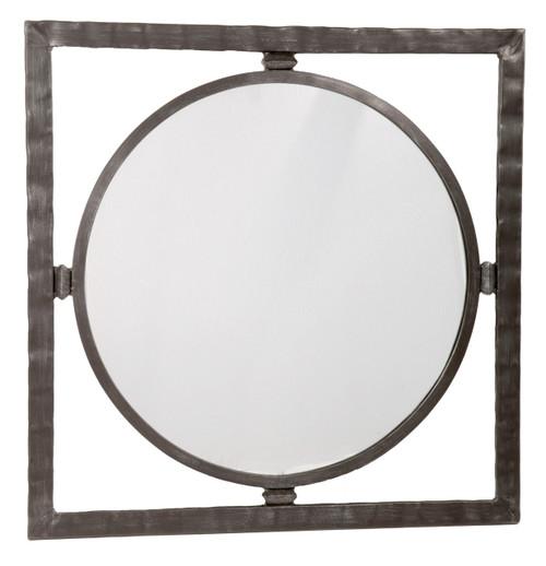 Blackwell Iron Round Wall Mirror