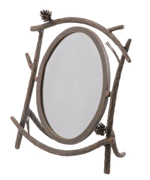 Evergreen Iron Table Mirror