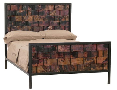 Westfork Queen Iron Bed  Copper