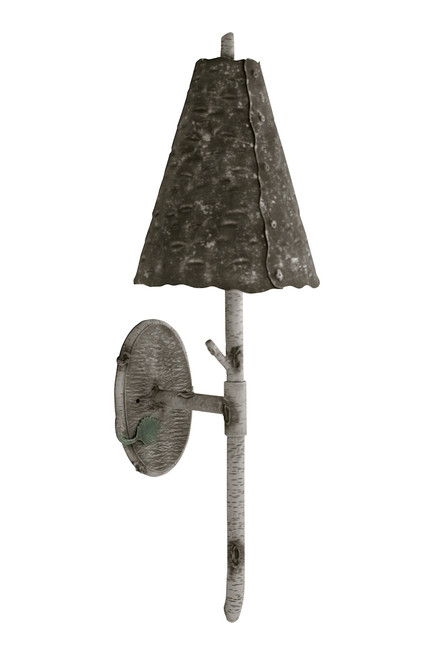 Marked Tree Iron Wall Sconce with Shade