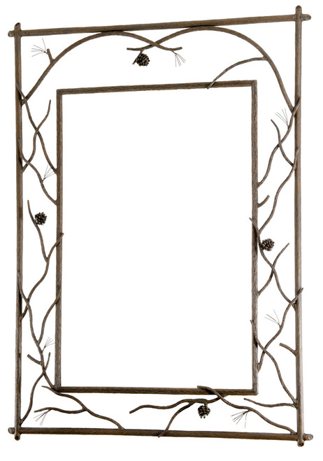 Evergreen Branched Iron Wall Mirror