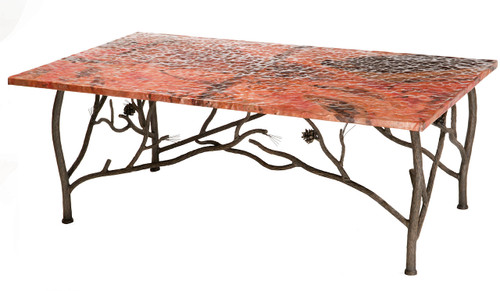 Base Only Evergreen Iron Coffee Cocktail Table