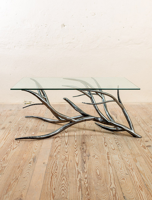 Driftwood Hand-Forged Iron Coffee Table