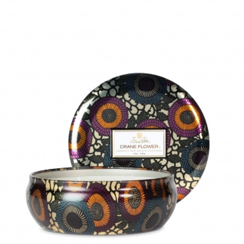 Voluspa Japonica Collection Crane Flower Three Wick Tin Candle