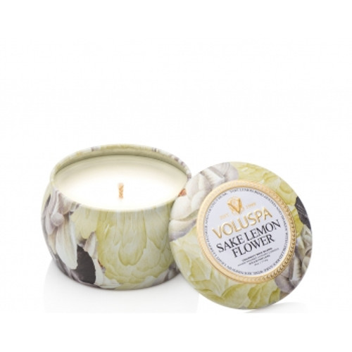 Voluspa Maison Jardin Collection Sake Lemon Flower Travel Tin Candle