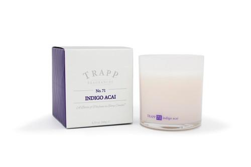 Trapp Candles No. 71 Indigo Acai Wood - 8.75 oz. Poured Candle