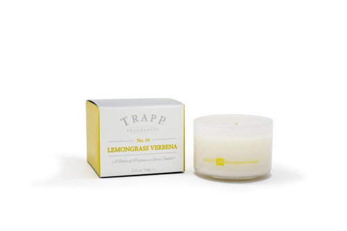 Trapp Candles Ambience Collection No. 10 Lemongrass Verbena - 3.75 oz. Poured Candle