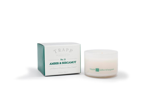 Trapp Candles Ambience Collection No. 21 Amber & Bergamot - 3.75 oz. Poured Candle