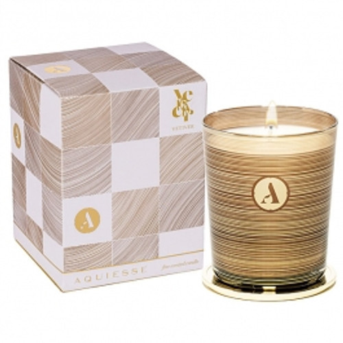 Aquiesse Mindful Collection Vetiver Glass Candle With Lid