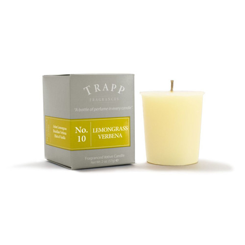 No. 10 Trapp Candle Lemongrass Verbena - 2oz. Votive Candle