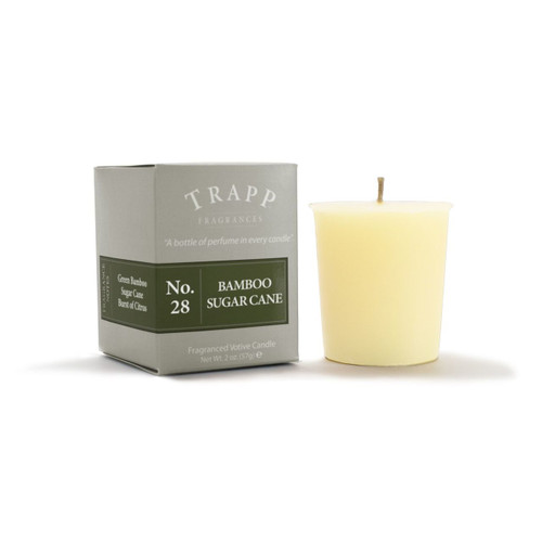 No. 28 Trapp Candle Bamboo Sugar Cane - 2oz. Votive Candle